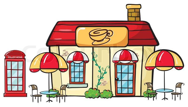 a coffee shop stock vector colourbox rh colourbox com