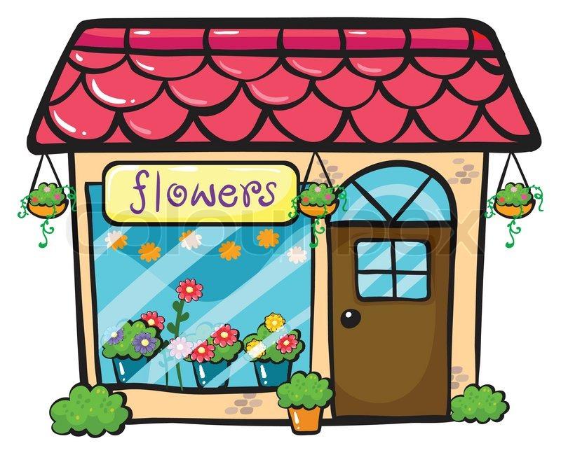 A flower shop | Stock vector | Colourbox