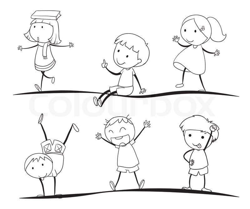 kids sketches vector - Kids Sketches