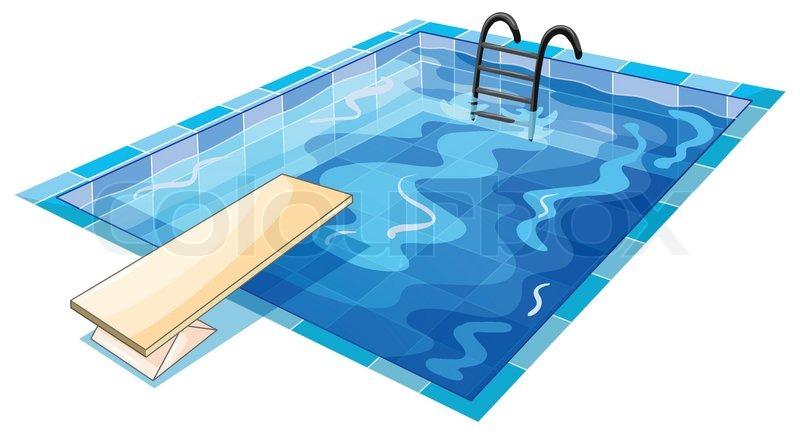 En swiming beholder stock vektor colourbox - Rechteckiger pool ...