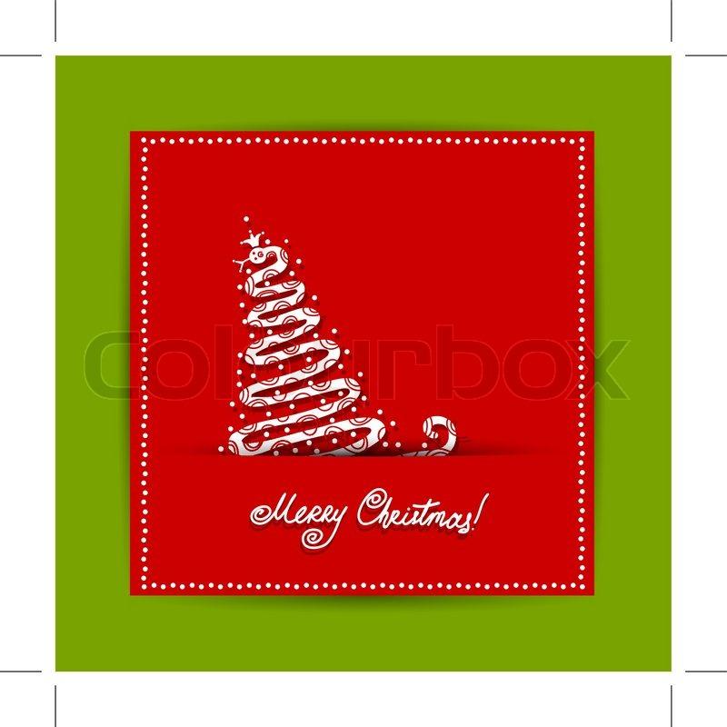 Weihnachten Postkarte Design mit Schlange, Symbol der Chinese New ...