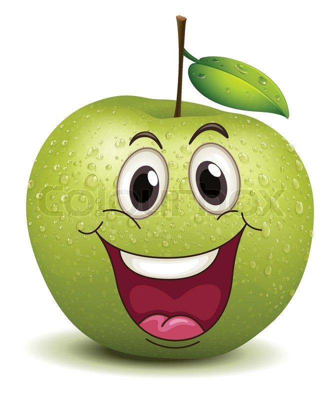 free smiling apple clipart - photo #30