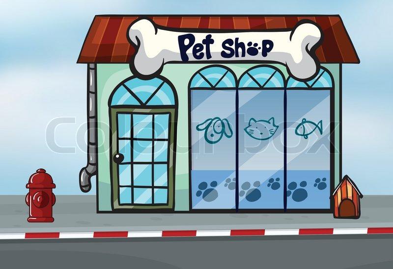 Opprinnelig A pet shop | Stock vector | Colourbox YQ-93