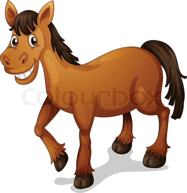 Horse cartoon | Vector | Colourbox