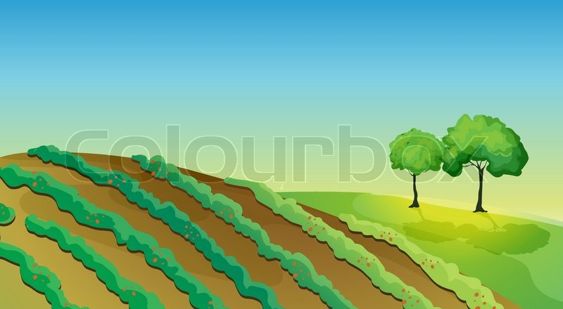 agricultural land and trees stock vector colourbox clip art of spring flowers with frogs clip art of spring flower rain