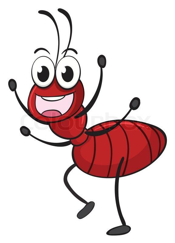An ant | Stock Vector | Colourbox