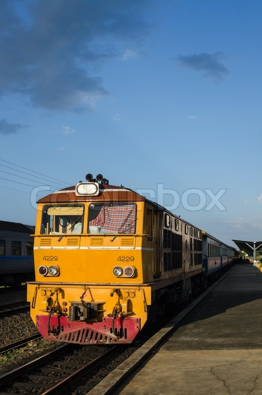 Old train in the station, stock photo