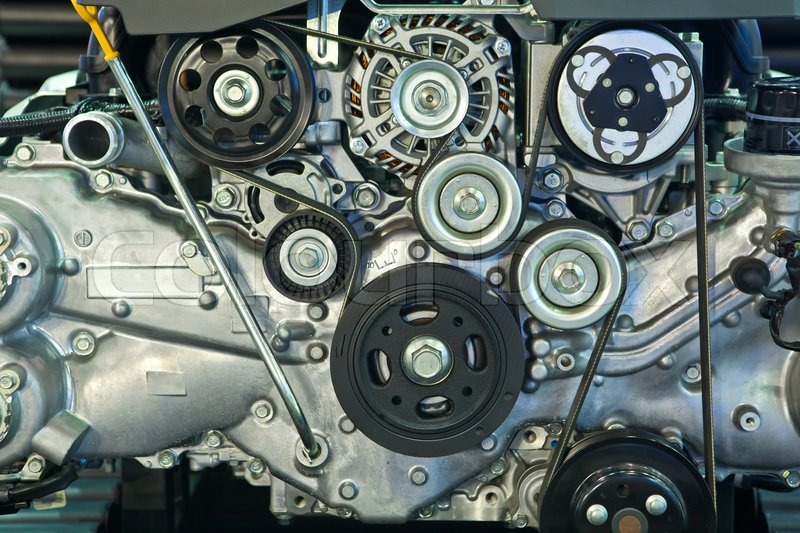 Closeup Of Car Engine Stock Photo Colourbox