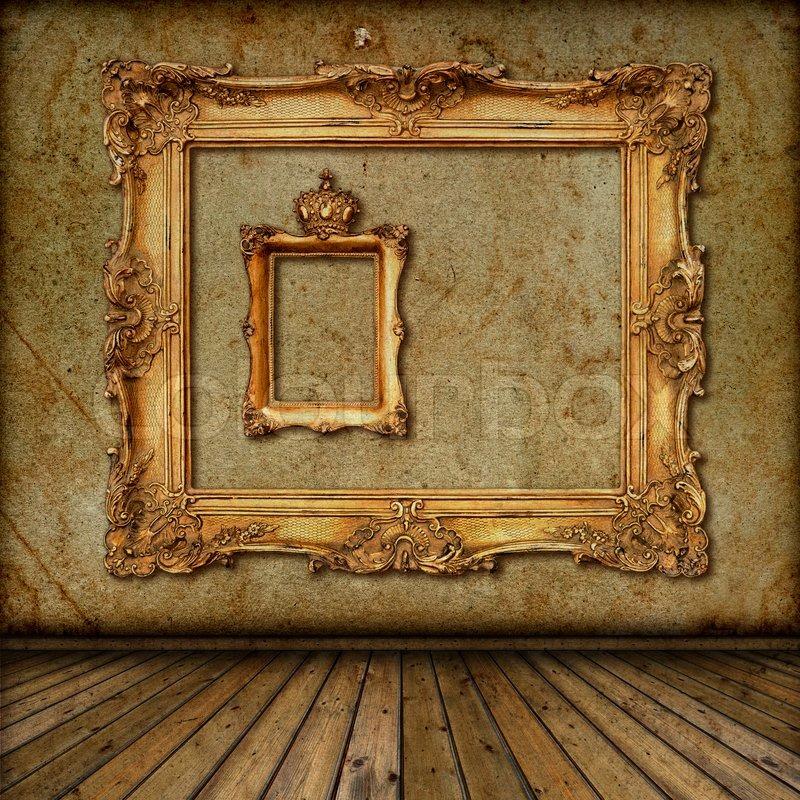 Golden Frame Wallpaper Golden Frame on The Wall