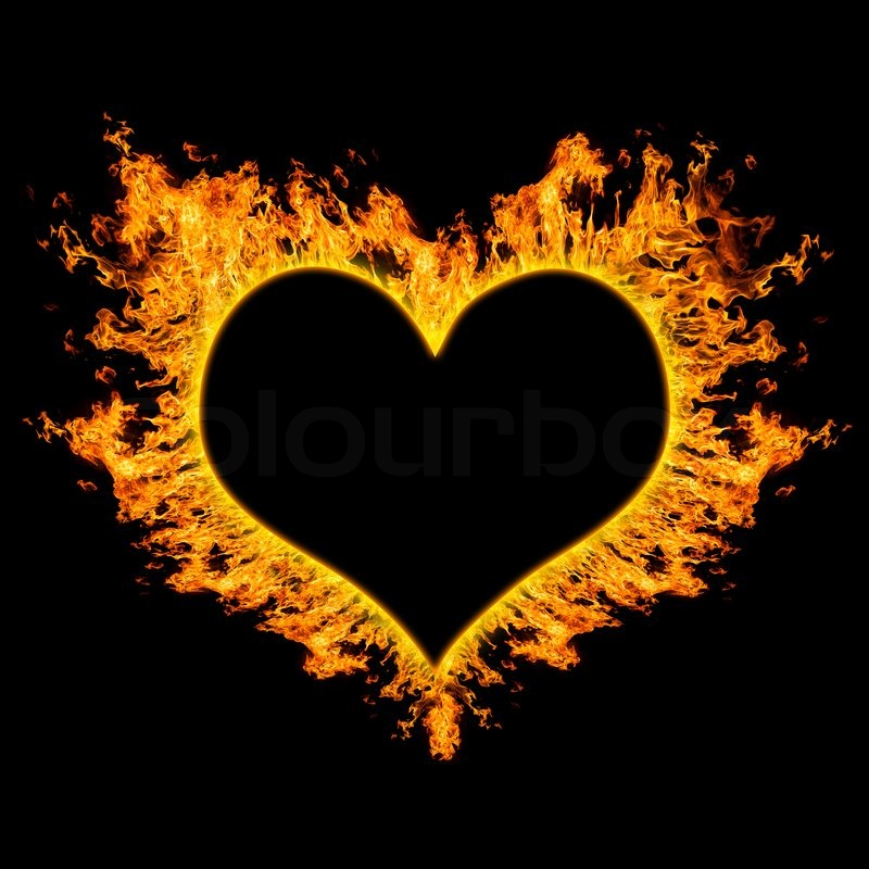 Image result for fiery heart