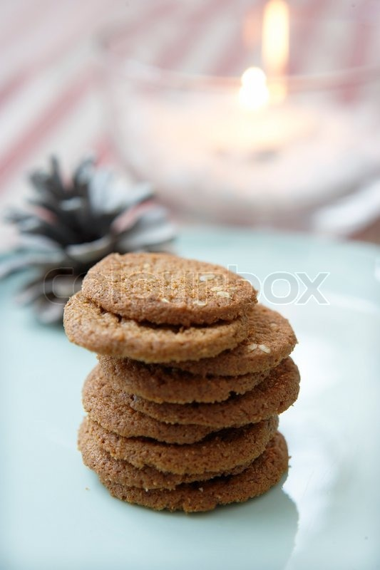 Stock image of 'A pile of Christmas cookies'