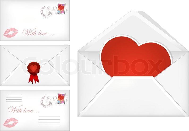 Valentine S Day Envelopes Stock Vector Colourbox