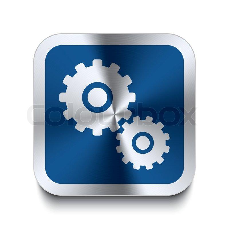 Blue Gear Gear Icon Blue Vector