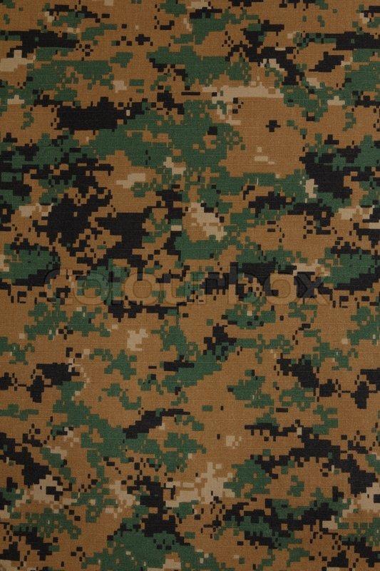 US Marine Force Marpat Digital Camouflage Fabric Texture Backgro