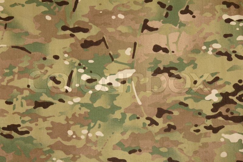 Armed Force Multicam Camouflage Fabric Stock Image
