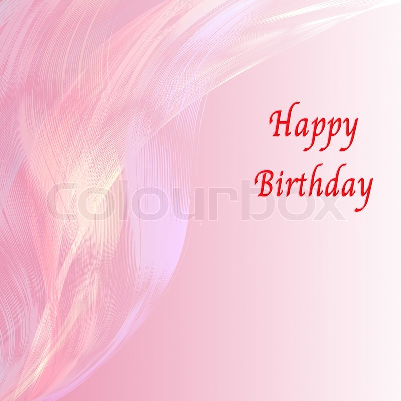 happy birthday card with pink line attractive background stock photo colourbox