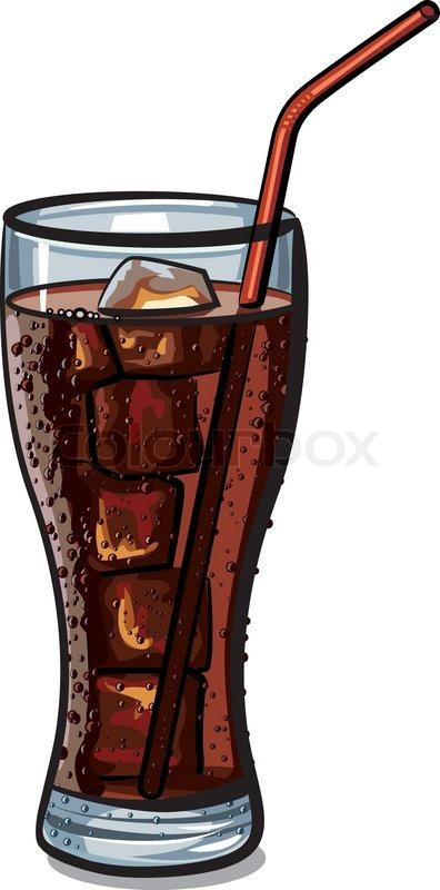 Cartoon Soda Glass glass of cola vector colourbox