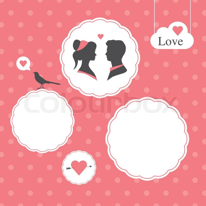 Set of wedding logo design illustration elements and ornaments wedding logo vector happy valentines day card template editable valentines day background stopboris Image collections