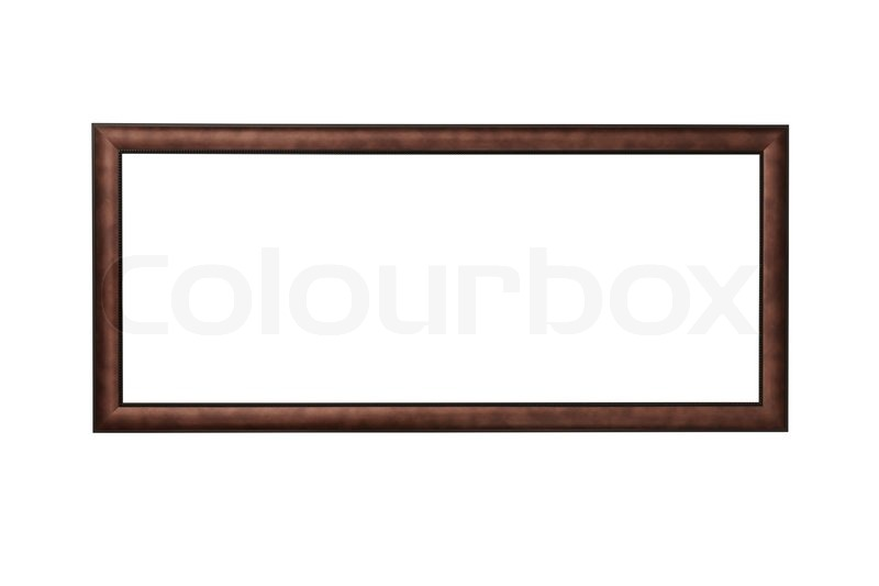 Wooden rectangle panorama picture frame | Stock Photo | Colourbox