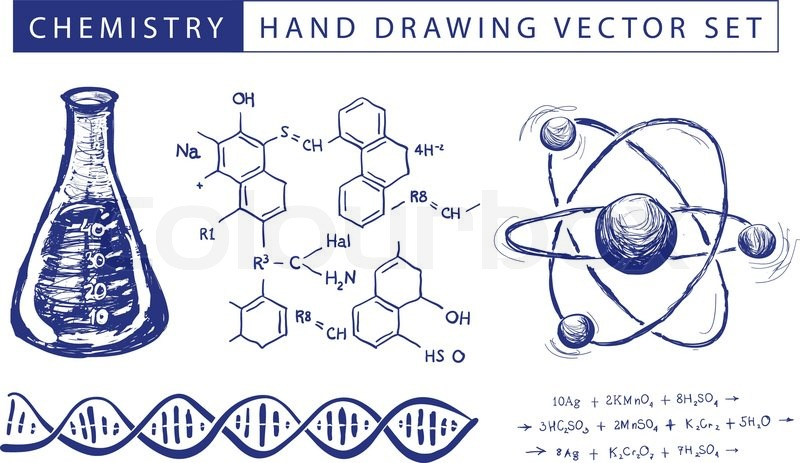 Chemistry hand drawing vector set illustration on white background chemistry hand drawing vector set illustration on white background stock vector colourbox ccuart Gallery