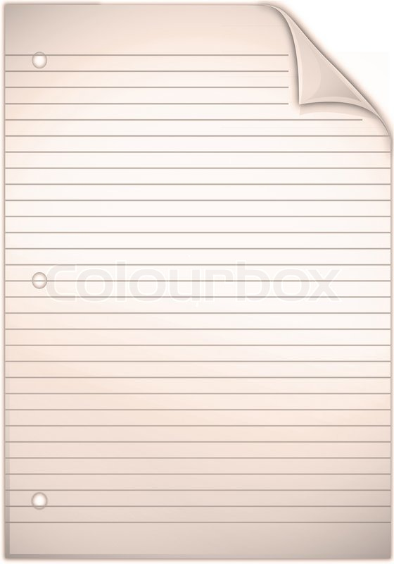 Blank Spiral note isolated on white background, stock photo