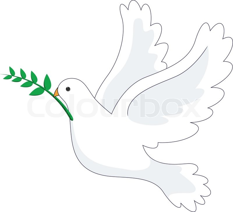 Illustration Of Dove Peace Stock Vector Colourbox