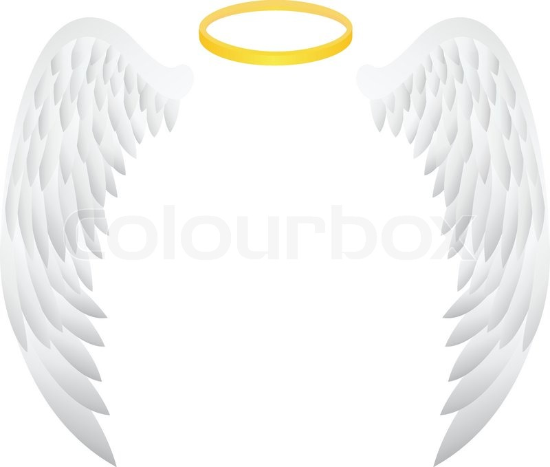 vector illustration of angel wing stock vector colourbox
