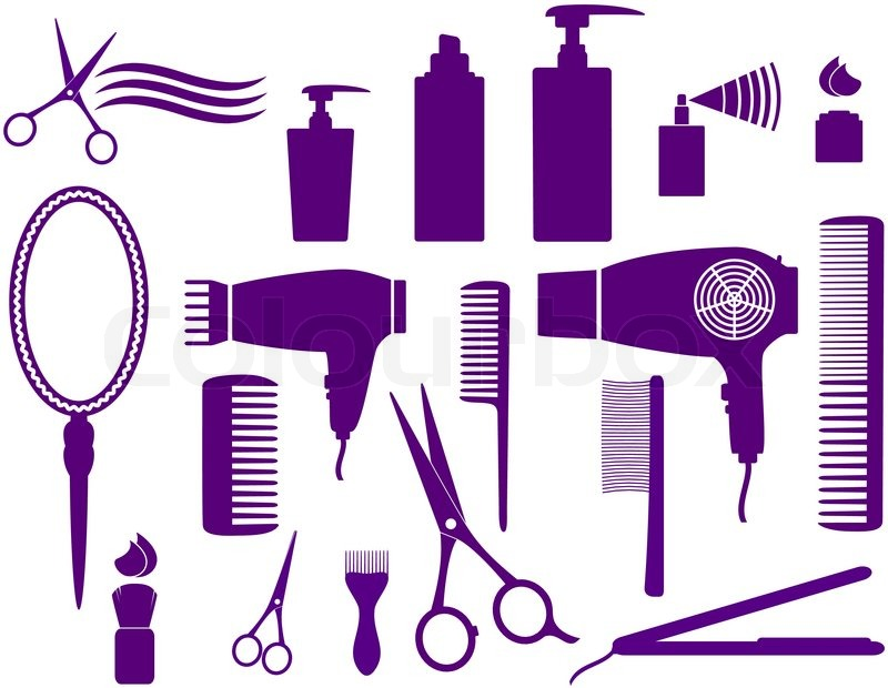 Hair Cutting Tools Drawing 26