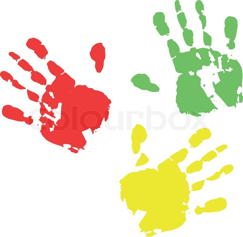 hand color print stock vector colourbox rh colourbox com handprint vector download hand print vector art