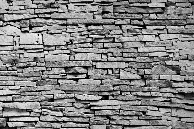 Brick wall black and white, stock photo