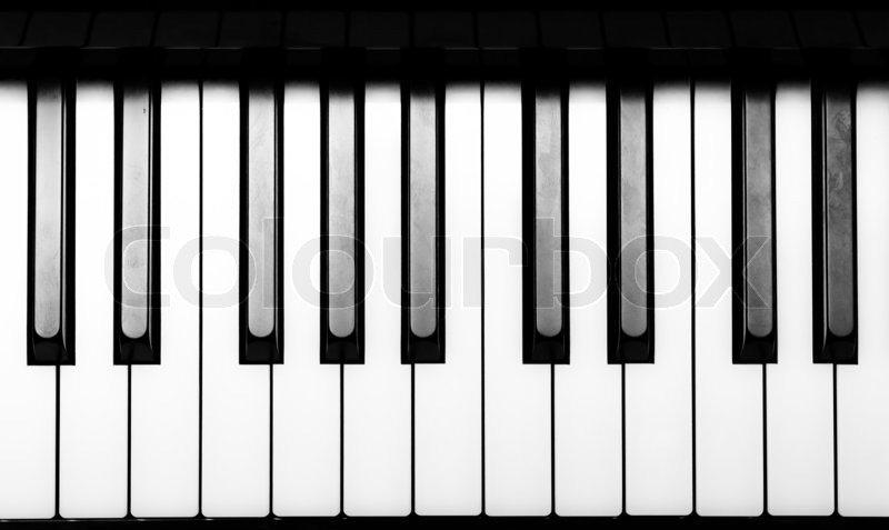piano keyboard in black and white stock photo colourbox