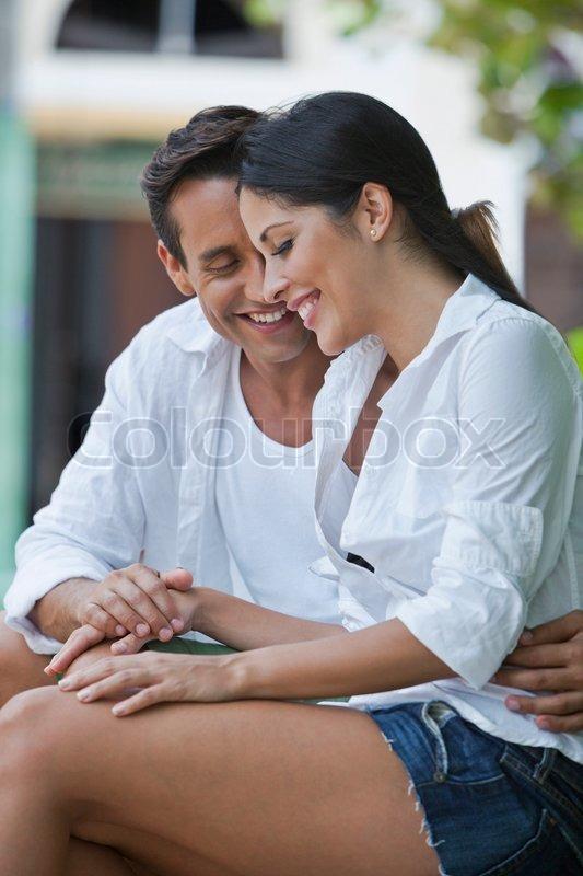close up of a couple romancing stock photo colourbox