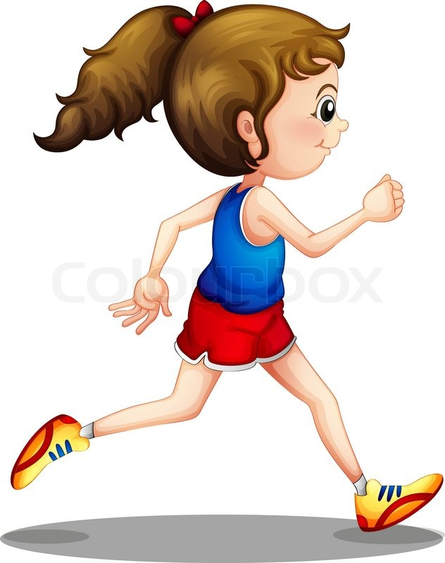 young girl running   S...