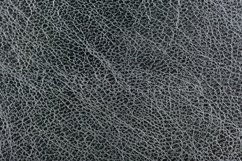 Dark Grey Glossy Leather Background Texture Stock Photo