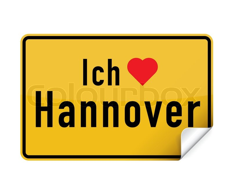 Liebe Hannover sticker city sign ich liebe hannover stock vector colourbox