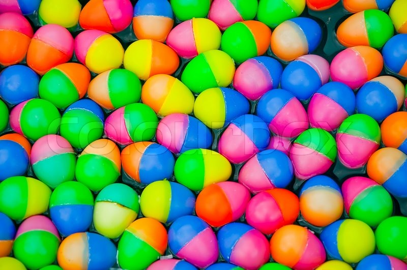 The Colorful Easter Eggs Plastic