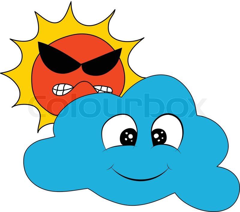 Weather Sun Cloud, vector