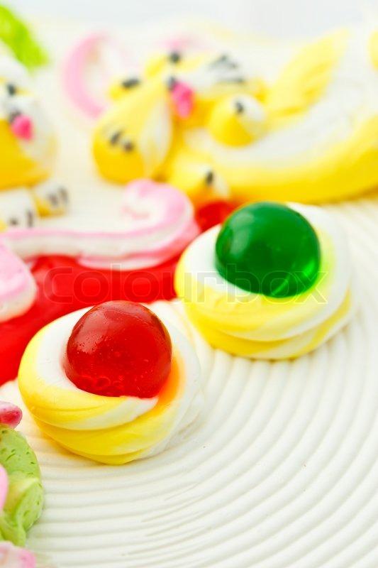 Schone Kuchen Dekoration Stockfoto Colourbox