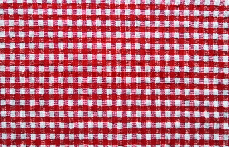 Straight Red Picnic Cloth Stock Photo Colourbox