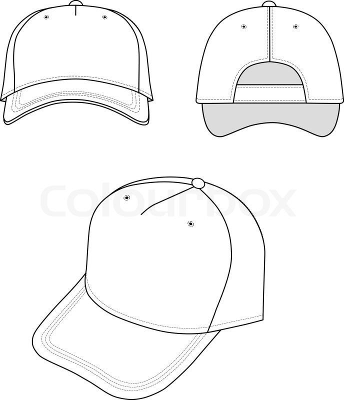 Cap Isolated On White Background Stock Vector Colourbox