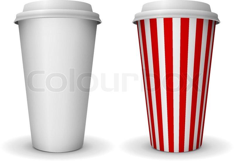 Take-away Fast-Food- Kaffee Pappbecher Vektor -Vorlage ...