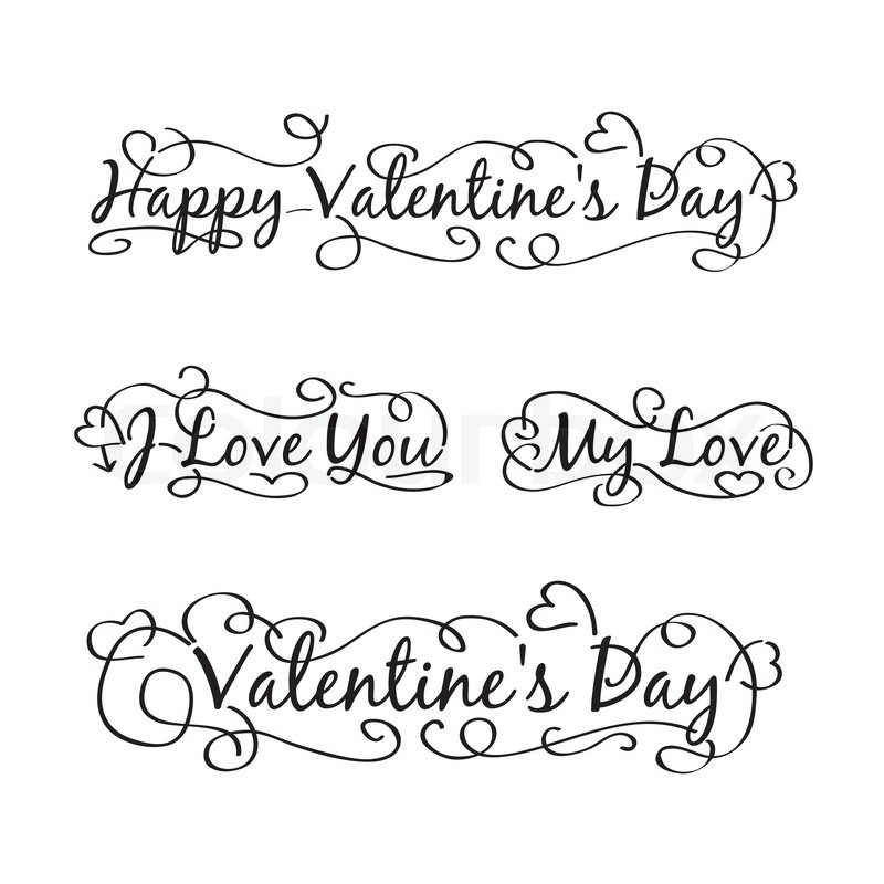Happy Valentine S Day Hand Lettering Scalable And Editable