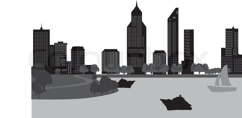 Perth australia skyline   Stock Vector   Colourbox