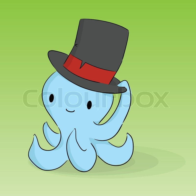 Cute Cartoon Octopus | Stock Vector | Colourbox