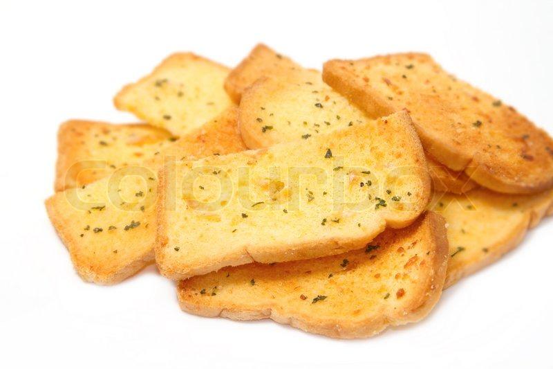 Crispy garlic bread | Stock Photo | Colourbox