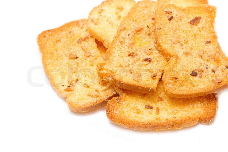 Crispy garlic bread | Stock Photo | Colourbox