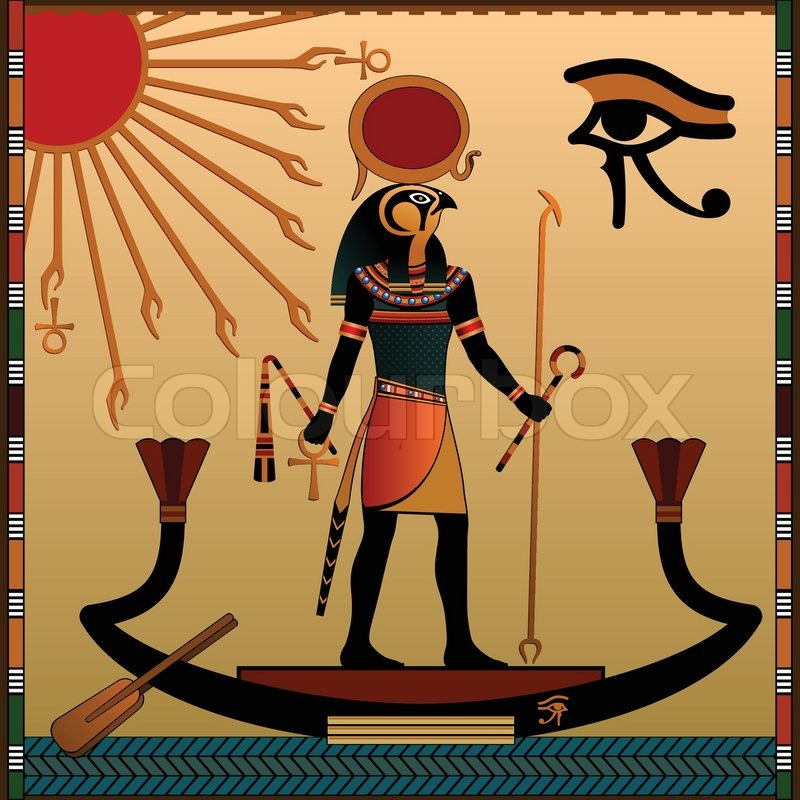 Ancient egypt egyptian murals anubis the jackal headed for Mural vector