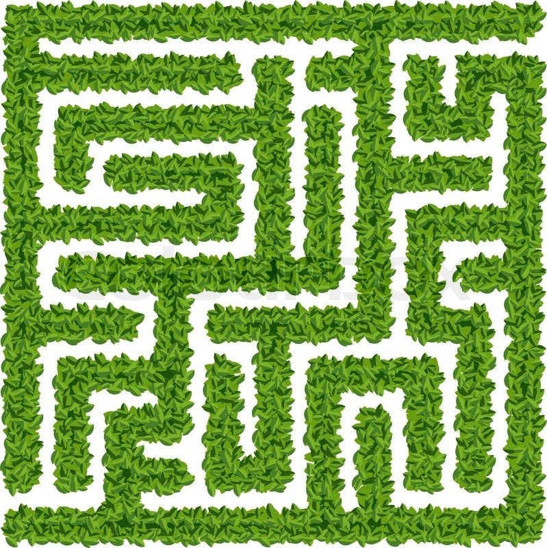 Bushes Maze Stock Vector Colourbox