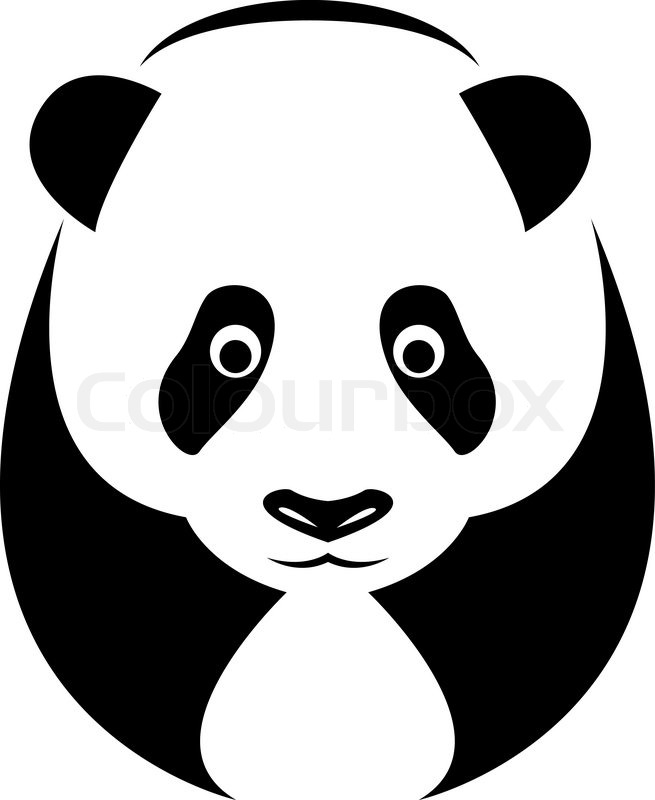 vector image of an panda on white background stock vector colourbox