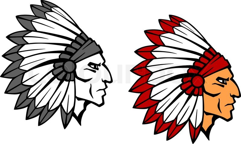 native american eps vector illustration clip art black
